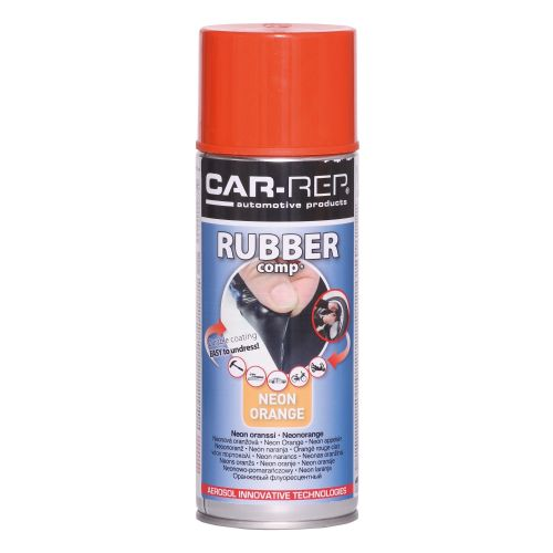 NEON ORANGE Rubber-comp Rubber Paint Spray Film Removable Plastic dip 400ml